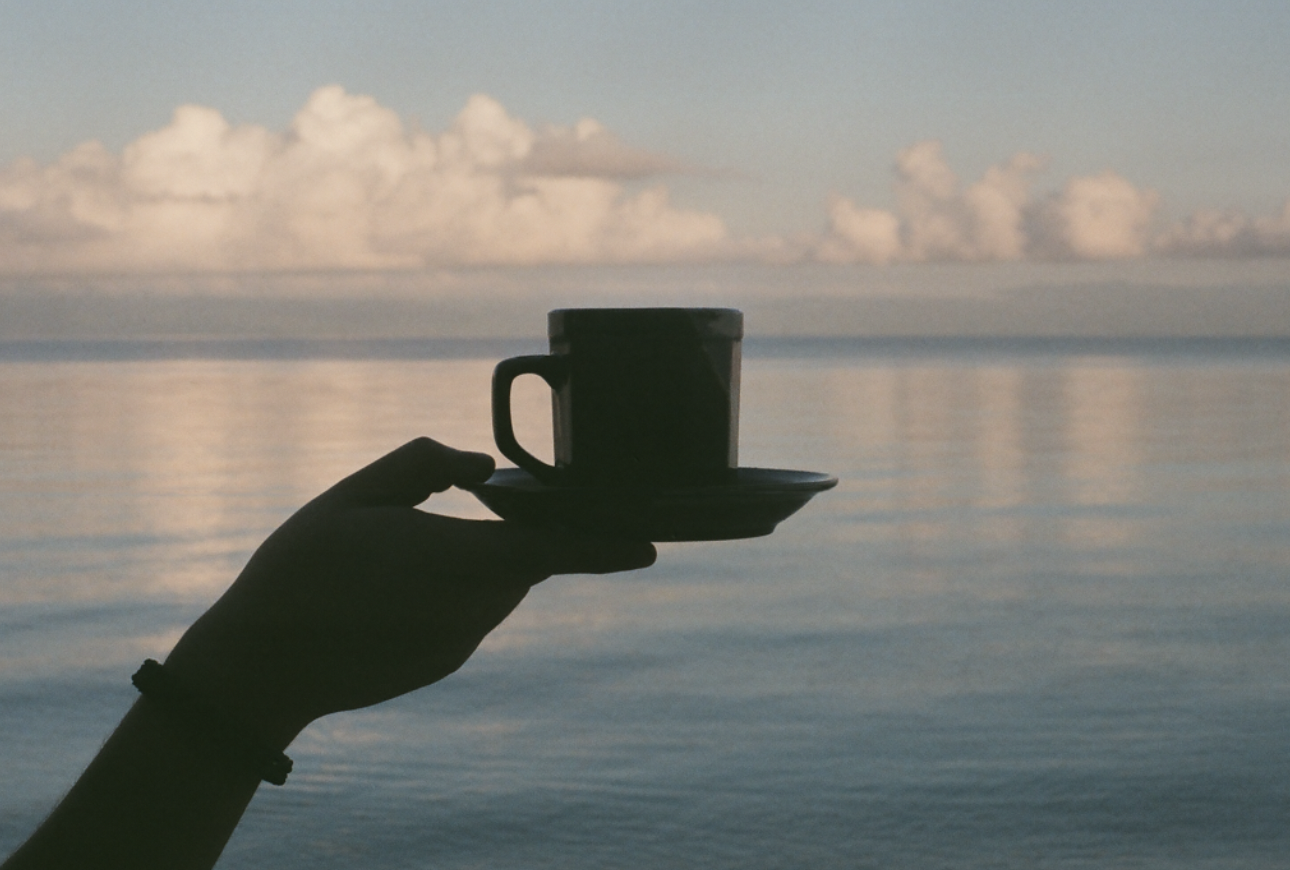 Silhouette coffee cup